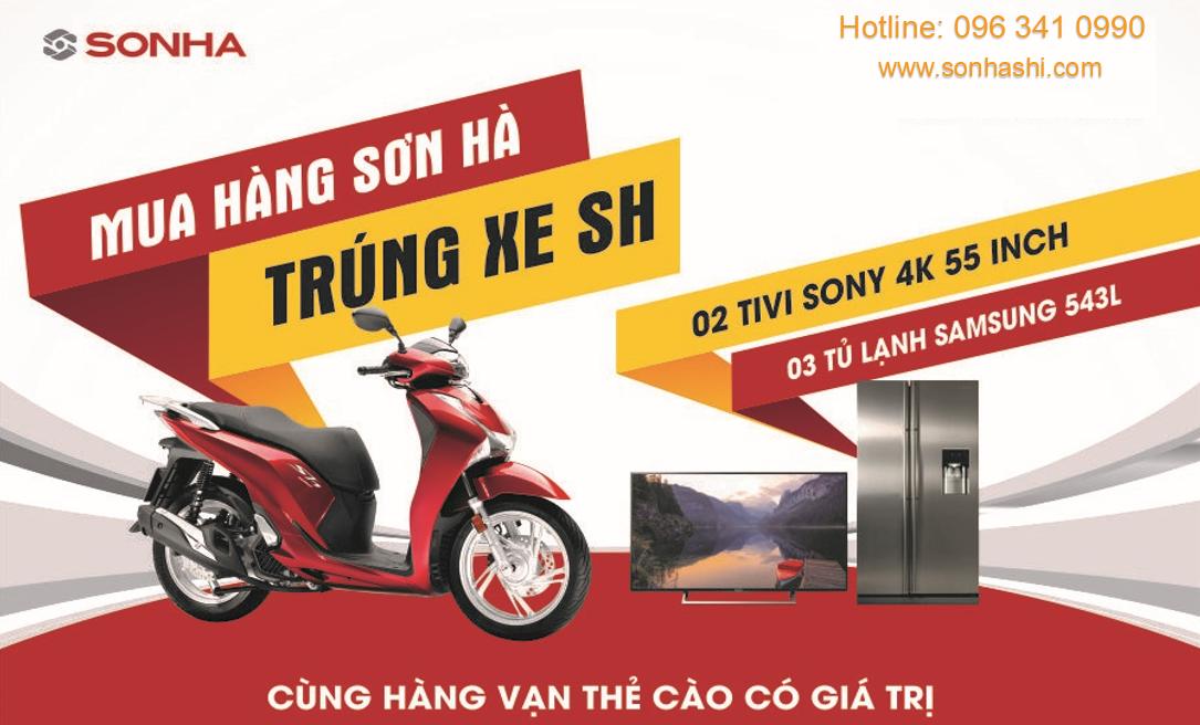 Mua Bồn nước Sơn Hà Trúng xe SH